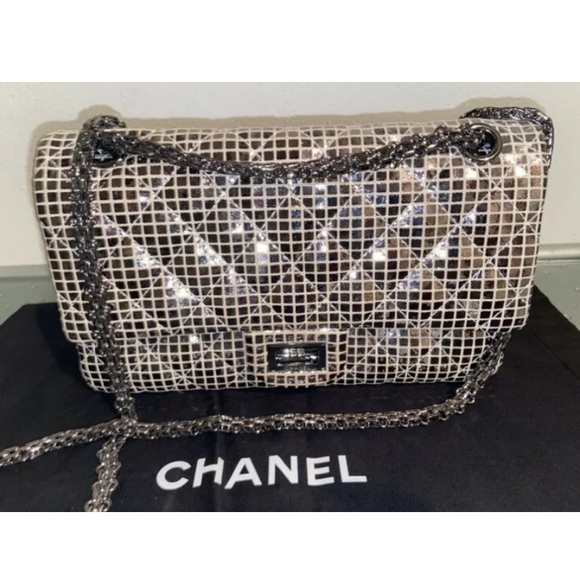 Chanel RARE Limited Reissue Double Flap Iridescent